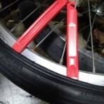 自転車のパンク修理セット裏面に説明書の画像
