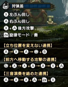 モンハンライズ狩猟笛コンボ表の画像